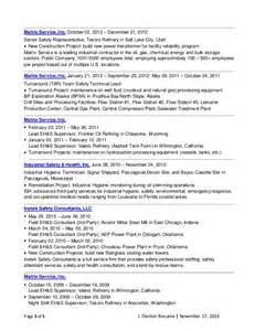 Safety Technician Sle Resume by J Denton Resume 11 17 14