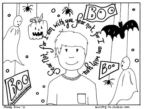 halloween coloring pages for sunday school 9 best images of christian halloween printables