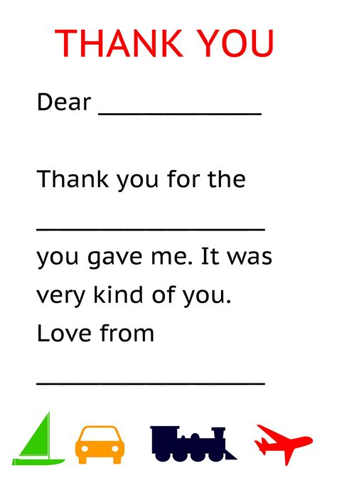 thank you letter to preschool card template pdf пошук teaching