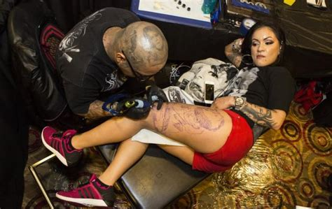 tattoo expo queens tattoo lovers artists attend show at queens casino ny