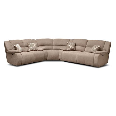 vcf sectional destin beige ii 3 pc power reclining sectional value