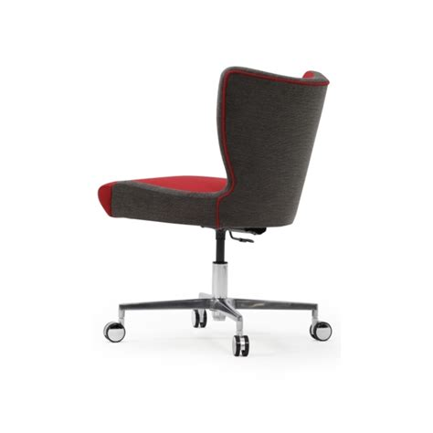upright recliner chairs jenny upright armless desk chair with cruciform base
