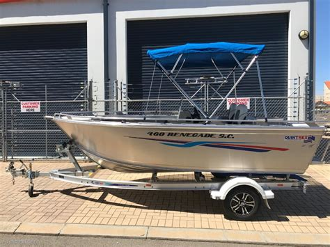 new quintrex boats for sale new quintrex 460 renegade side console trailer boats