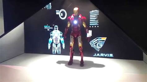 iron man holographic display jarvis youtube