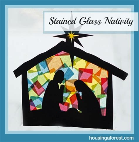 Nativity Paper Craft - creative ways to teach the true meaning of