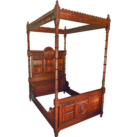 bed tester victorian canopy tester bed with storks herons from