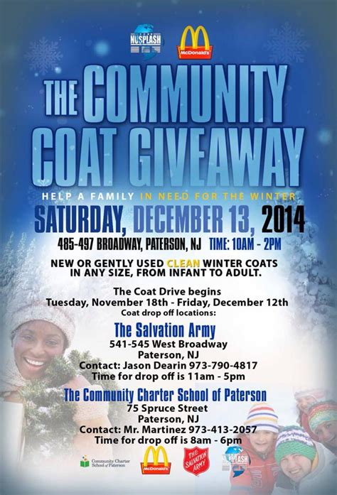 Winter Coat Giveaway - group holding community coat giveaway on saturday paterson times