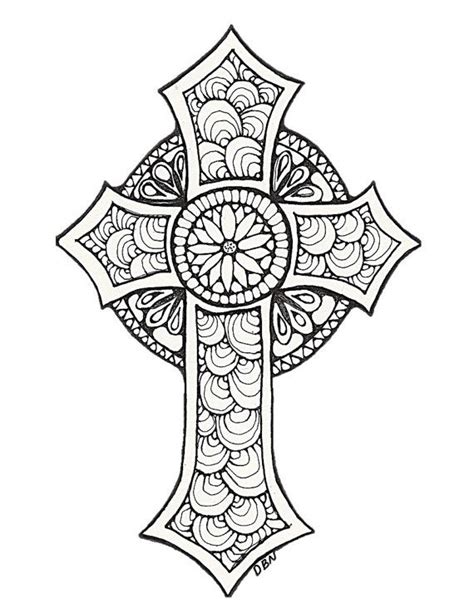 coloring pages for adults crosses 17 beste idee 235 n kruis tekening op kruis