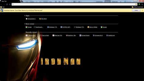 theme google chrome iron man google chrome iron man theme