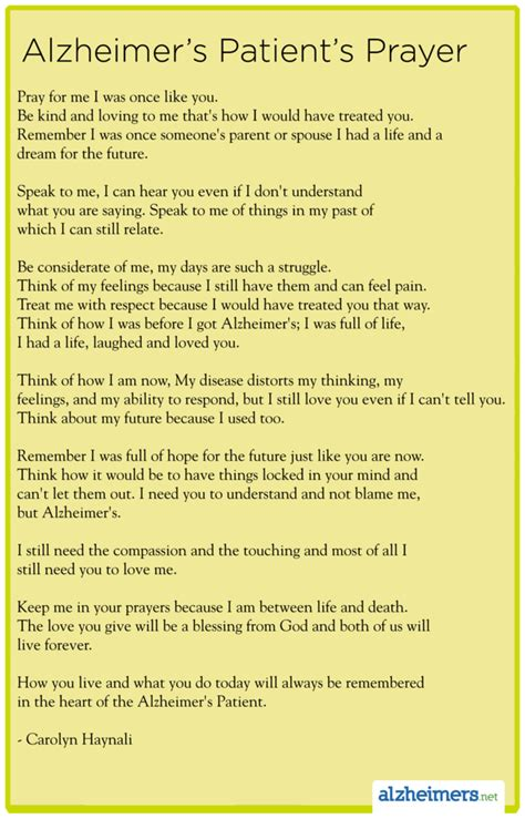 1000 images about alzheimers alzheimers poems letters poem alzheimer s patient s prayer by carolyn haynali