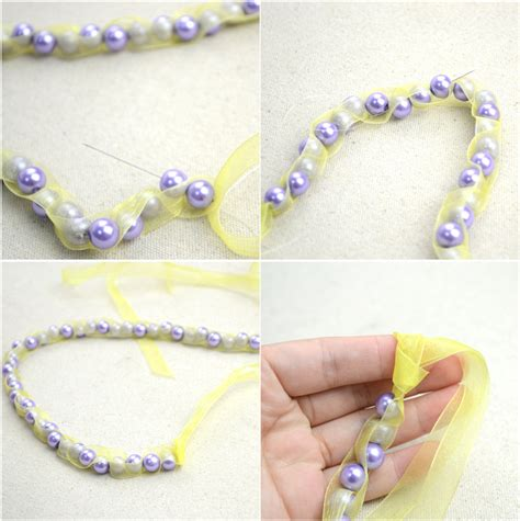 Diy Handmade Jewelry - handmade beaded necklaces out of pearls and ribbons 183 how