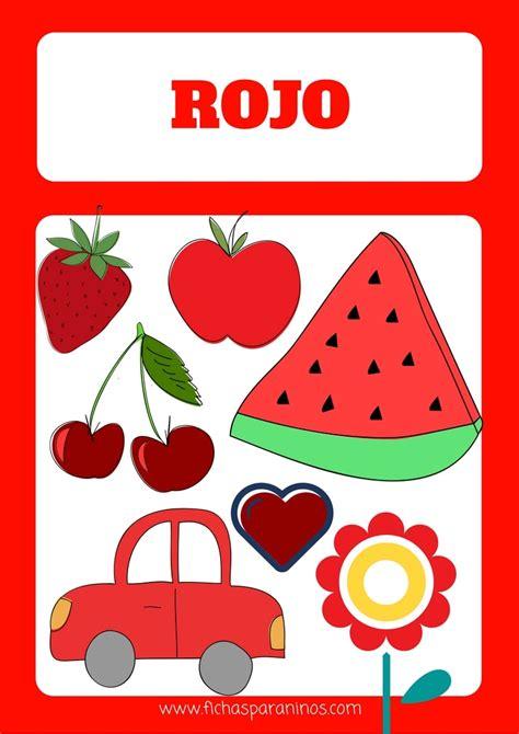 rojo color ficha para aprender el color rojo para ni 241 os
