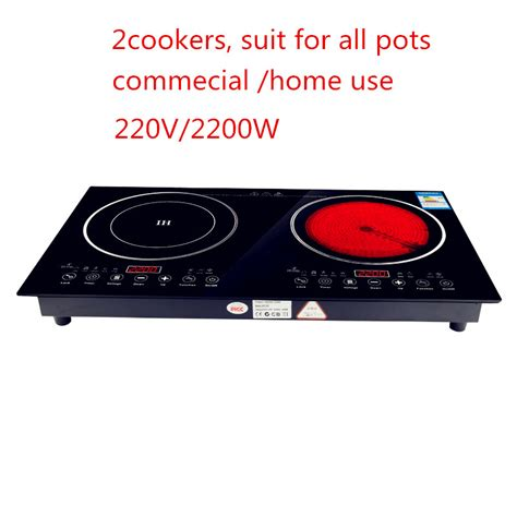 electric induction or ceramic hob 30 220v 2200w electric induction cooker cooktop stove cookware hob ceramic stove with 2