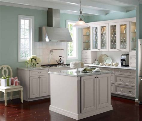 blue and white kitchen cabinets martha stewart skyland kitchen kitchens grey cabinets grey and painted walls