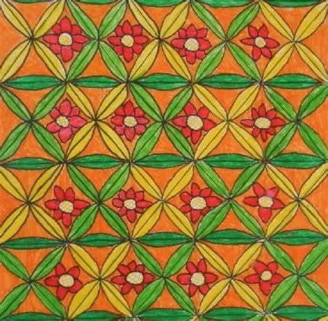 contoh ragam hias flora  batik lukisan ukiran