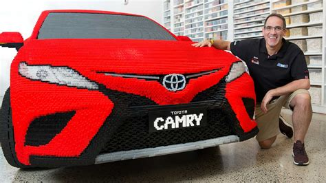 build my toyota camry toyota built a sized lego replica of its all new 2018