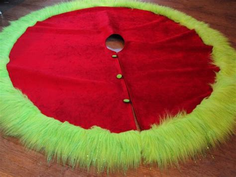 grinch tree skirt tree skirt grinch theme plush skirt with green