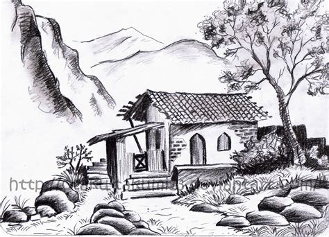 Landscape Drawing Pencil Drawings Landscape Pencil Drawings
