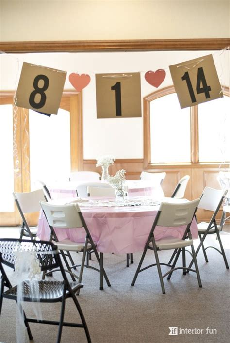 bridal shower decorations simple 2 easy and banner for a bridal shower made from simple cardstock ribbon other sweet