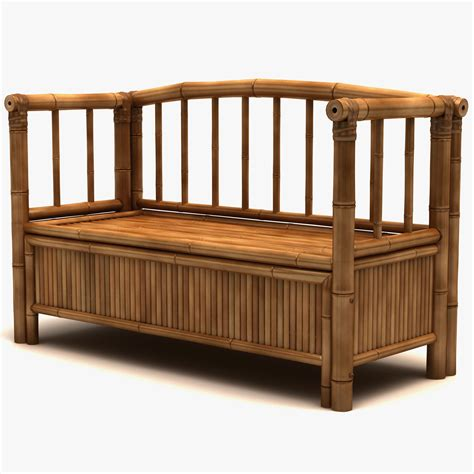 bamboo storage bench 3d bamboo storage bench