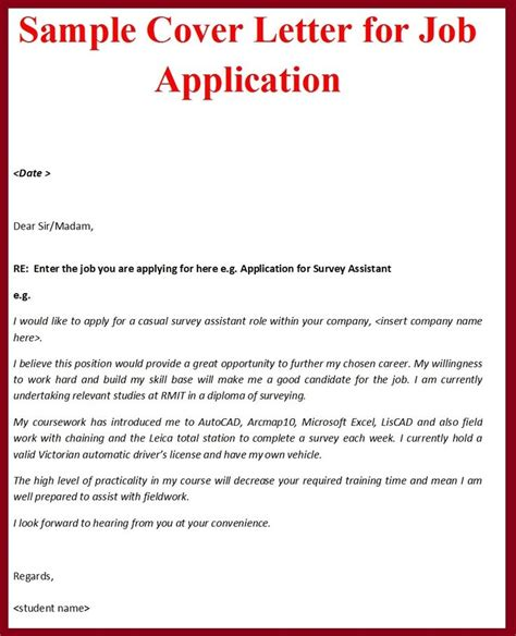 covering letter to apply for a sle cover letter for application the best letter