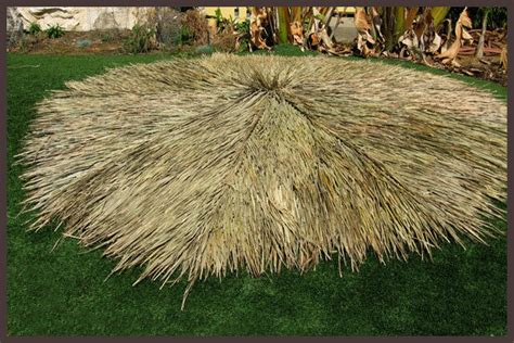 Tiki Grass Thatch 9 Ft Tiki Thatch Palapa Palm Grass Resort Grade Ebay