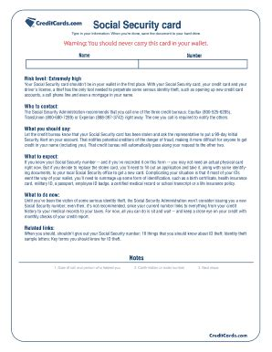social security card template pdf make a social security card fill printable