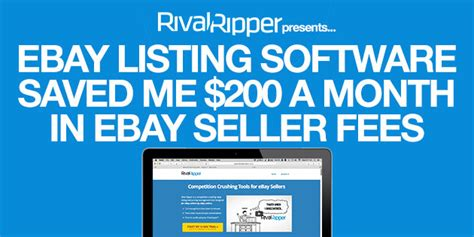 ebay selling fees ebay listing software that saved me 200 a month in ebay
