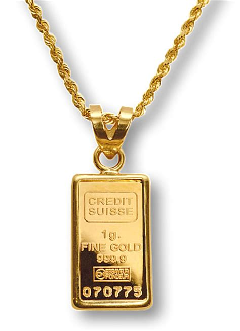 How To Make A Gold Bar Out Of Paper - credit suisse 1g gold bar necklace suisse swiss