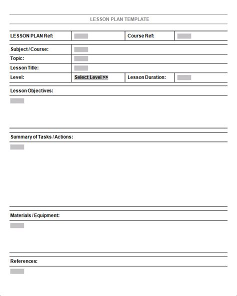 lessons plan template 5 free lesson plan templates excel pdf formats