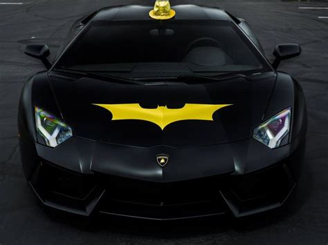 Batman Lamborghini Lamborghini Aventador Batman Front Signature Car Hire
