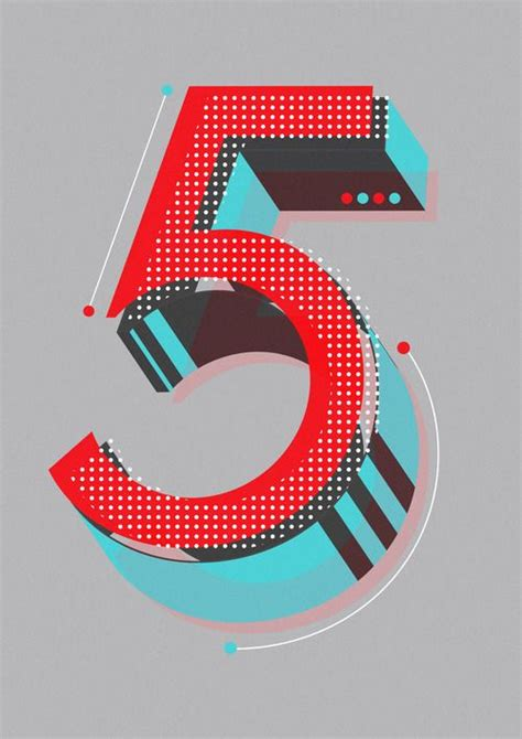 typography numbers design lettering actually a number by neil type