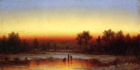 painting twilight a winter twilight by sanford robinson gifford