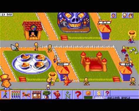 theme park bullfrog theme park 1994 bullfrog productions game download