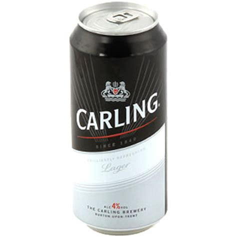 buy carling lager case   cans  home bargains