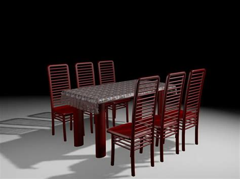 red dining room sets red dining room sets 3d model 3ds max files free download