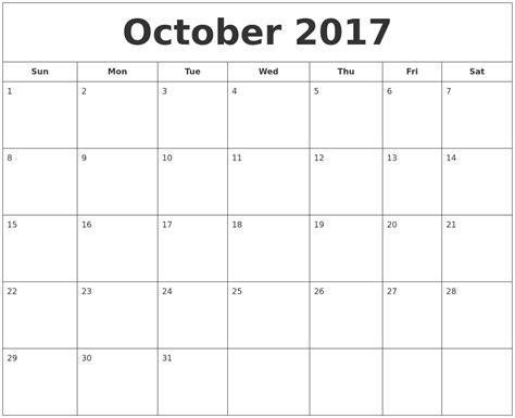 Calendar 2017 September October September 2017 Calendar October 2017 Printable Calendar