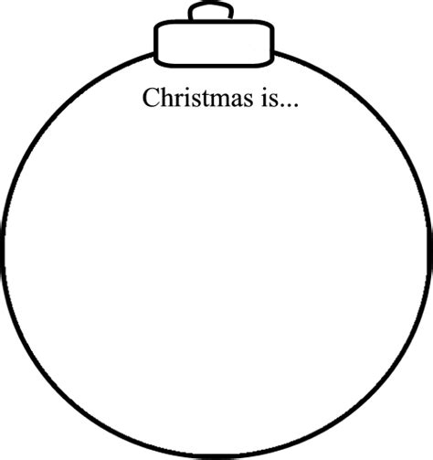 printable christmas decoration templates abcteach printable worksheet christmas is ornament