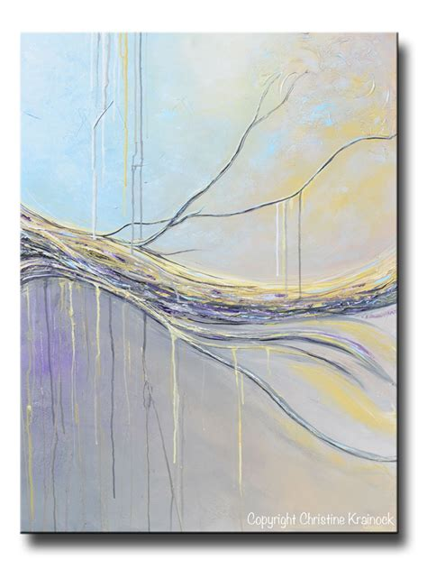 Vbm091 Blue Gold White Grey original abstract painting blue gold grey large