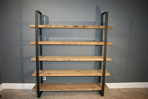 reclaimed wood shelf shelving unit with 5 by