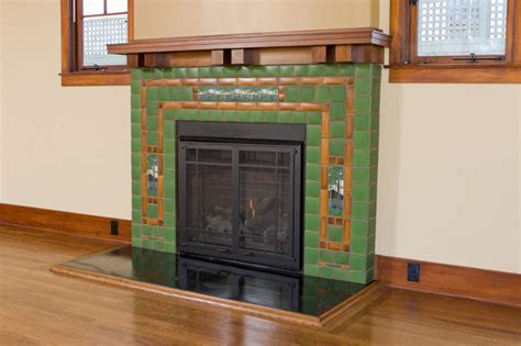 Motawi Fireplace by Fireplace With Batchelder Tile Eclectic Living Room