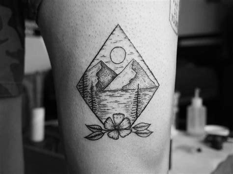 tattoo diamond black and white 63 wonderful mountain tattoos