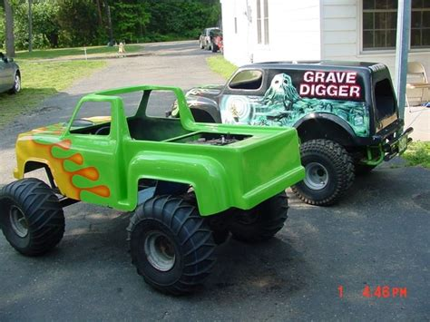 monster truck kids videos here are my kids mini monster truck go kart grave digger
