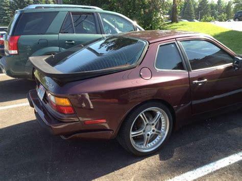 burgundy porsche buy used 1987 porsche 944 turbo burgundy brown in