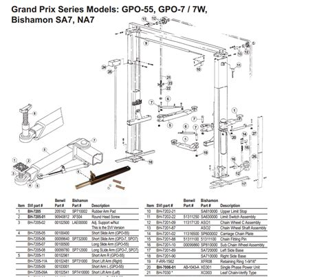 parts diagram for benwil gpo55