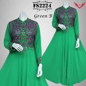 N Anggun Syari Baju Muslim Terbaru Gamis jual beli gamis pesta green payet mewah cantik baju muslim anggun gaun pesta modern gamis model