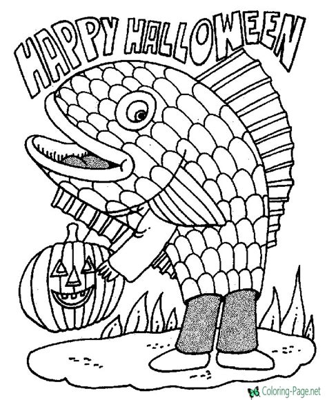 scary fish coloring pages halloween coloring pages fish costume