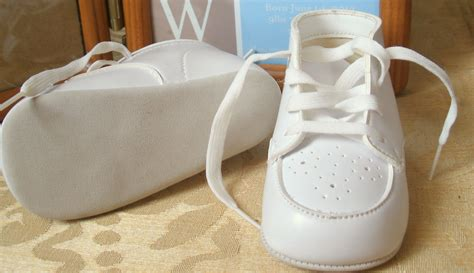 vintage white baby shoes