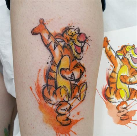 tigger tattoo 45 beautiful disney tattoos inspired by your favorite