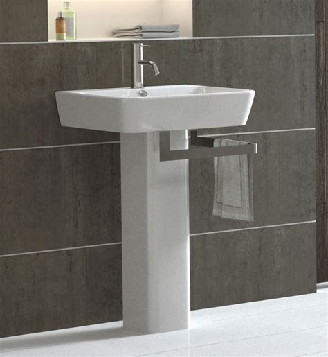 Modern Pedestal Bathroom Sinks Pedestal Sink Modern Bathroom Sinks By Bissonnet
